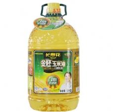 长寿花金胚玉米油 非转基因 食用油5L 绿色食品认证