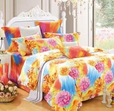 阿思家家纺 贡缎四件套 多花色床上用品4件套特价 1.5 1.8 米床