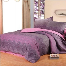 阿思家家纺 加厚保暖全棉磨毛四件套 花语问情 1.5 1.8 米