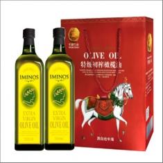 原装进口【米诺斯】特级初榨橄榄油500ml*2瑞马礼盒