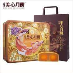 月饼团购 香港美心【双黄白莲蓉】铁盒  官方标准礼盒